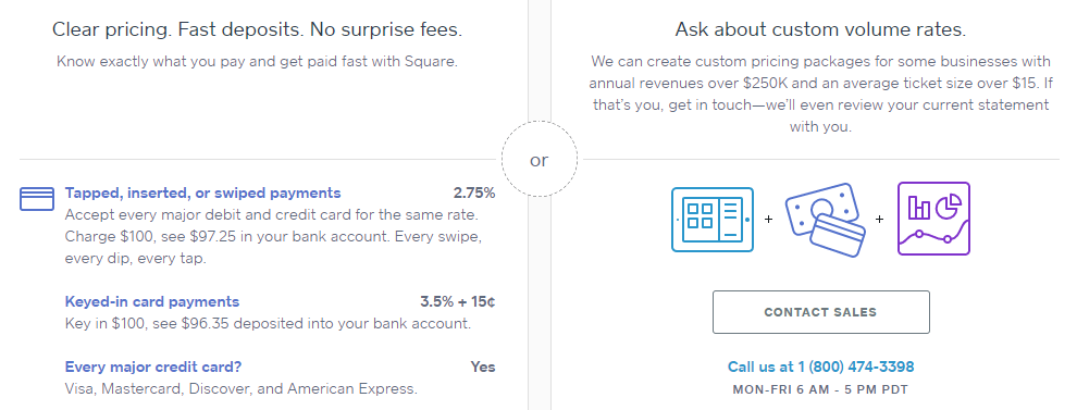 stripe paypal square braintree squareup pricing