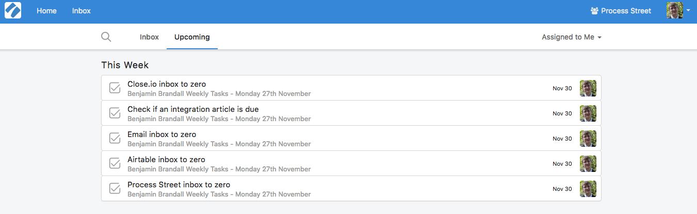 weekly task scheduler template
