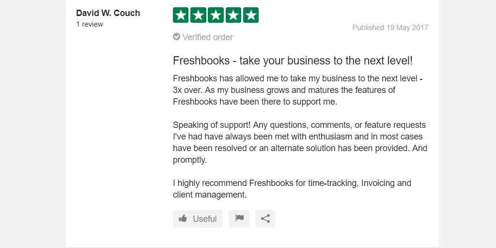 Freshbooks Quality Reviews
