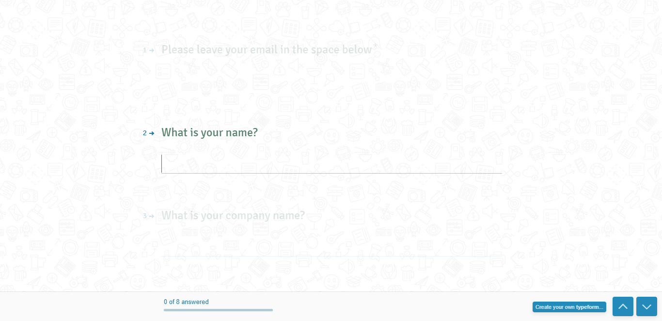 create a form typeform questions