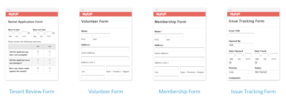 create a form wufoo design