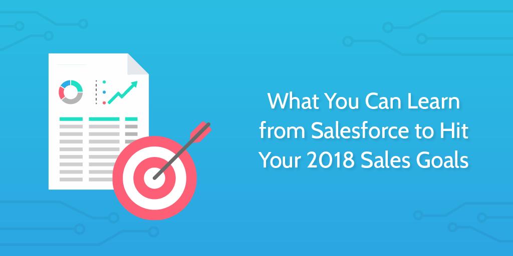 Sales goals salesforce header