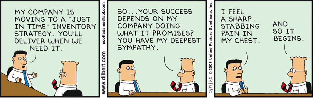 dilbert JIT strategy