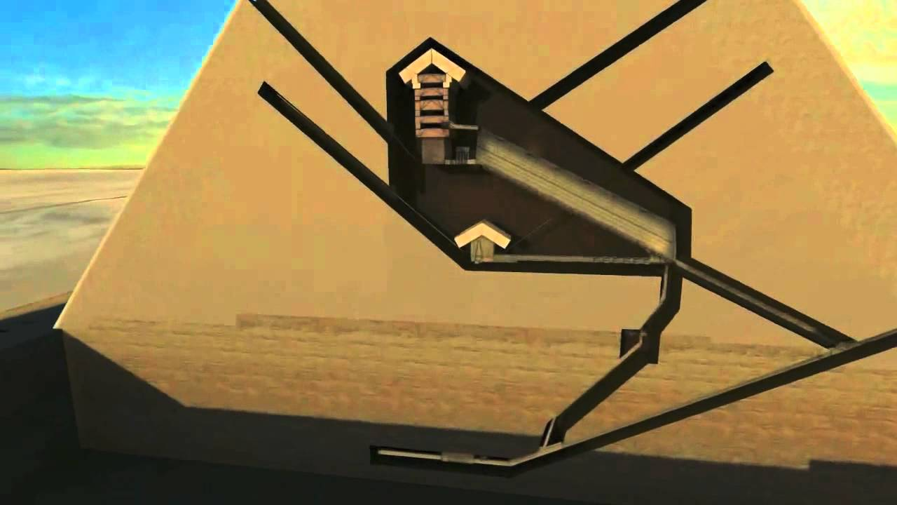 how were the pyramids built internal ramp graphic