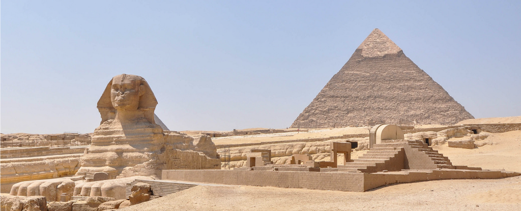 how were the pyramids built sphinx