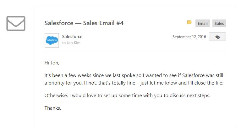 sales goals salesforce email 4