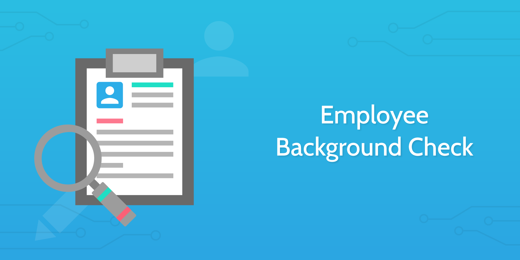 how to conduct an interview employee background check
