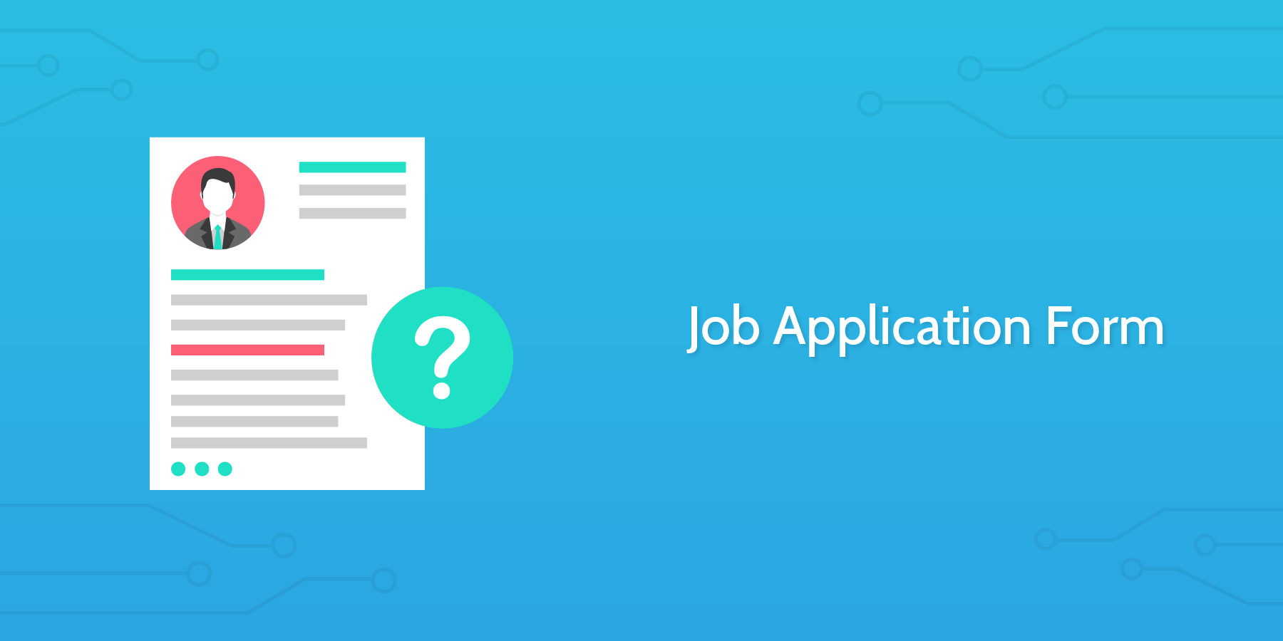 how to conduct an interview job application form