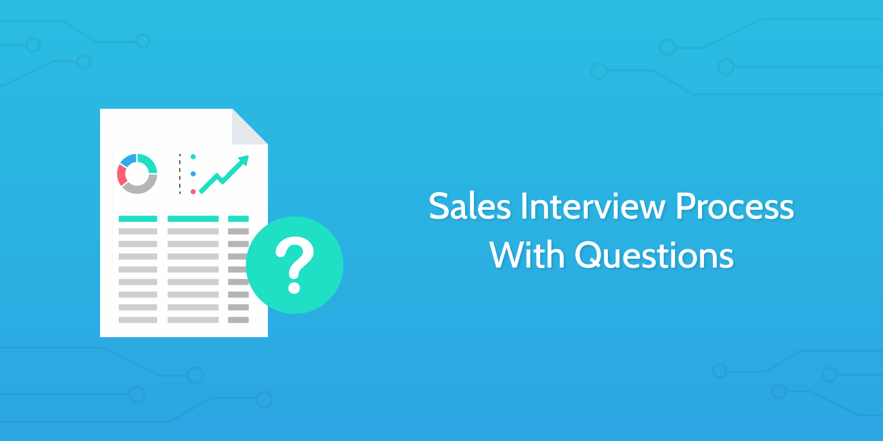 how to conduct an interview sales interview questions