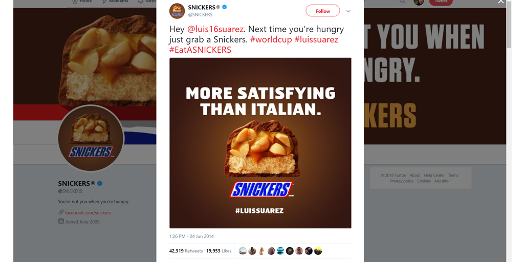 Snickers marketing twitter