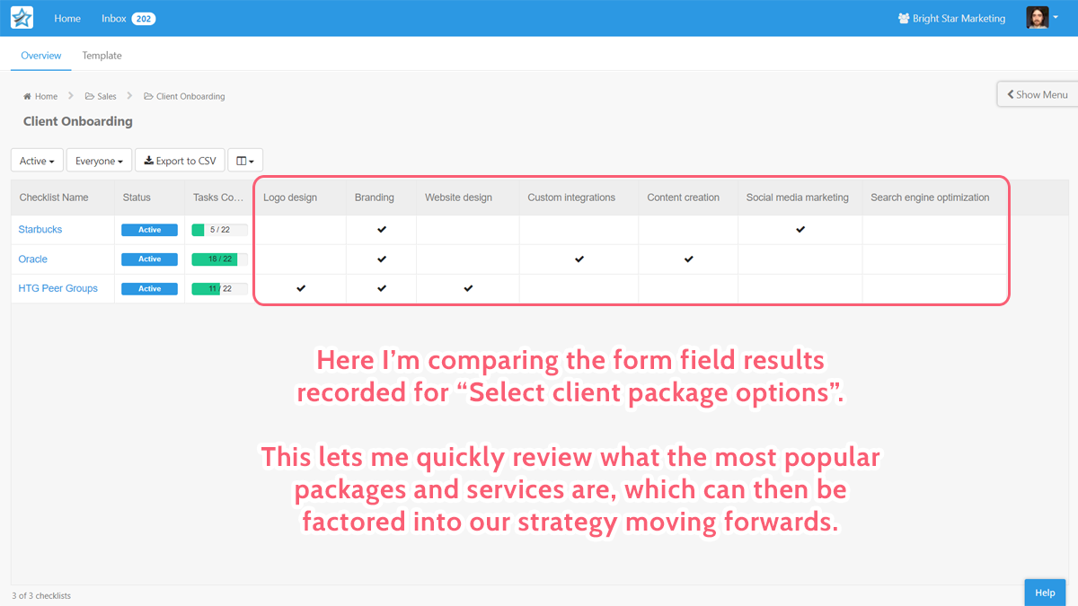 form field results compare