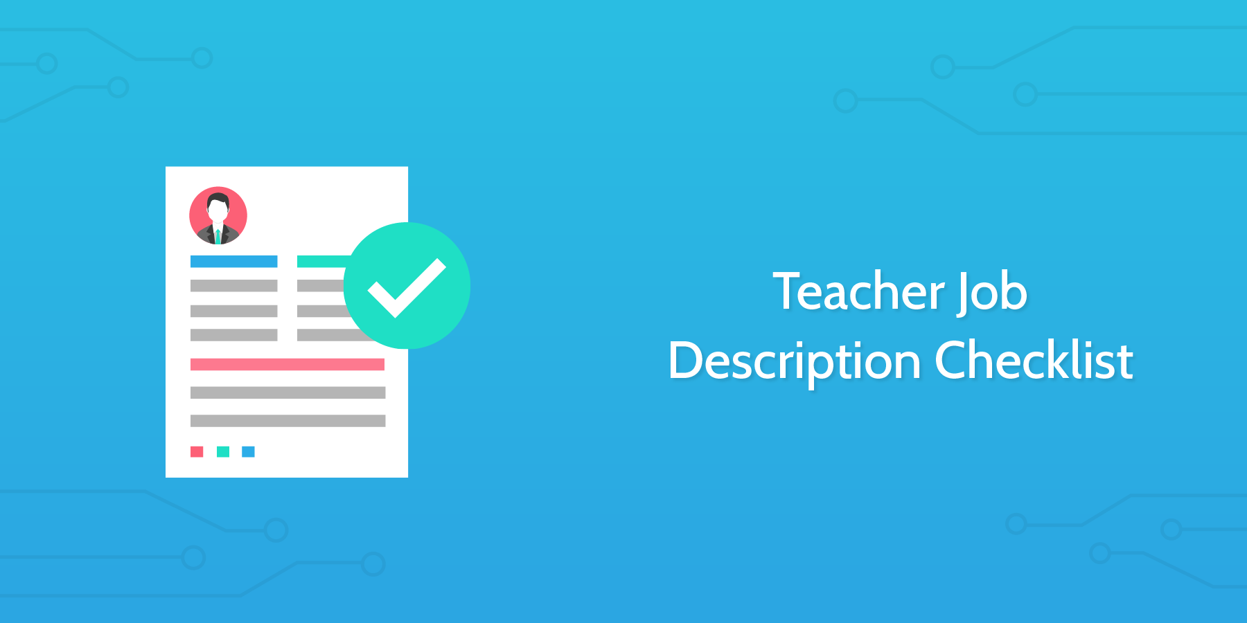 school checklists teacher job description checklist