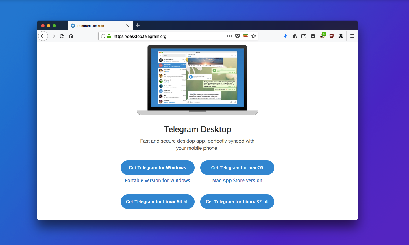 Download Telegram for desktop