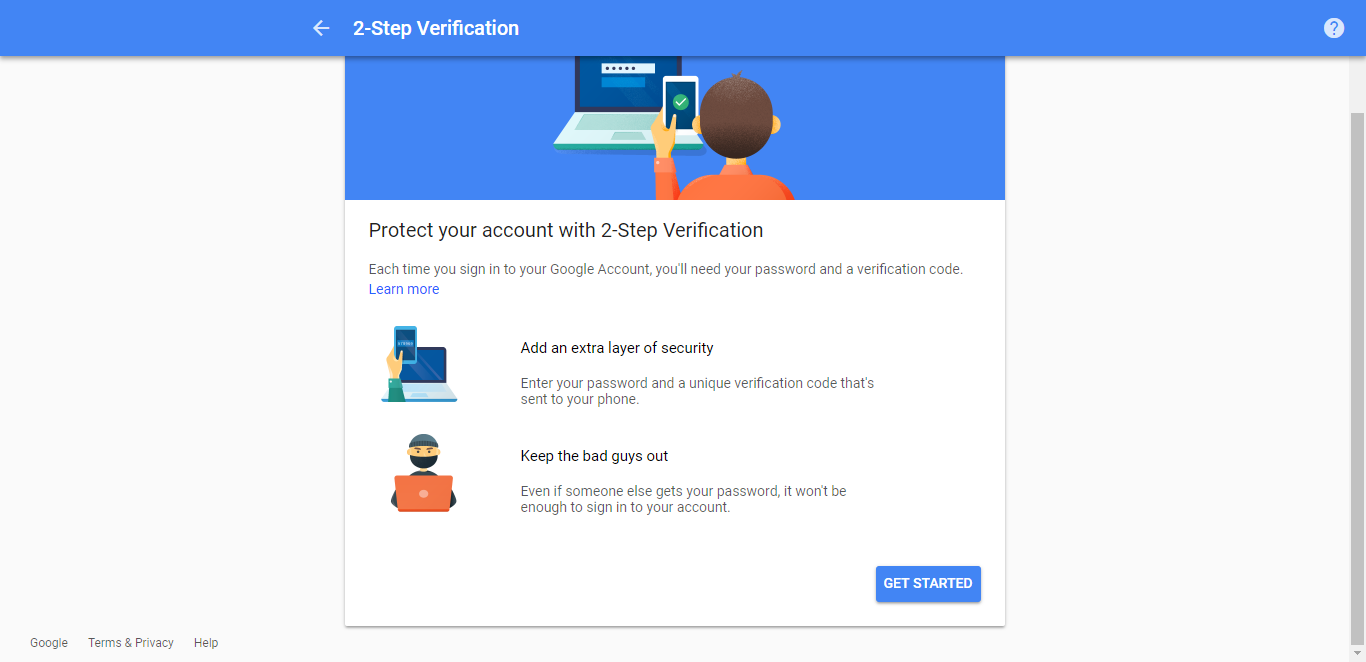 two factor authentication wizard