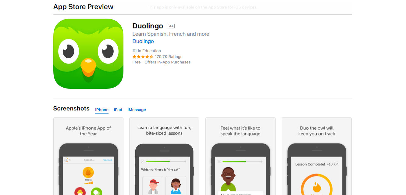 what is aso app optimization listing duolingo
