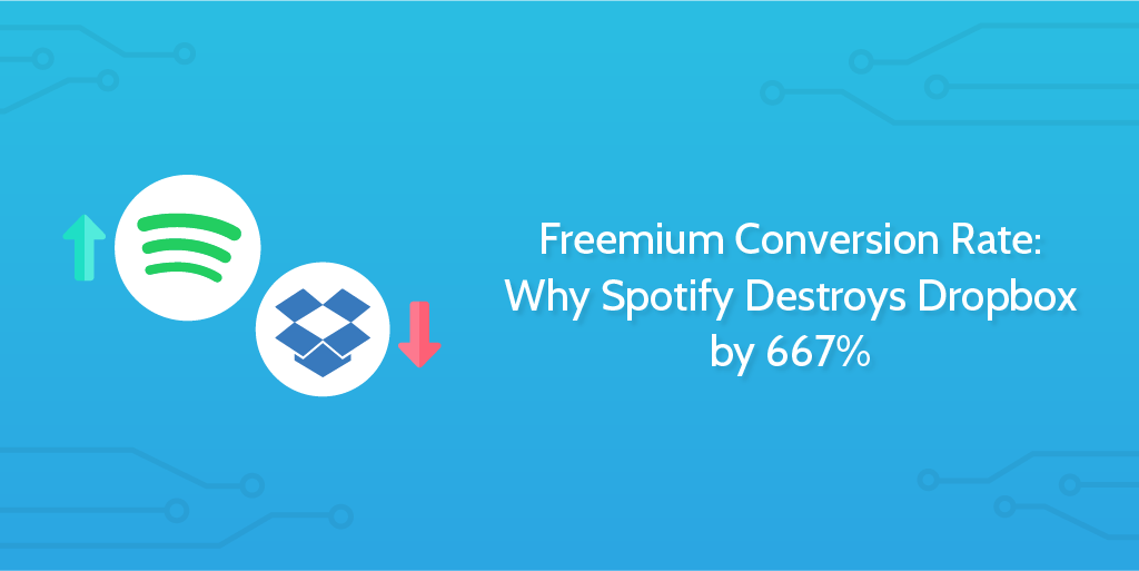 Freemium Conversion Rate: Why Spotify Destroys Dropbox by
