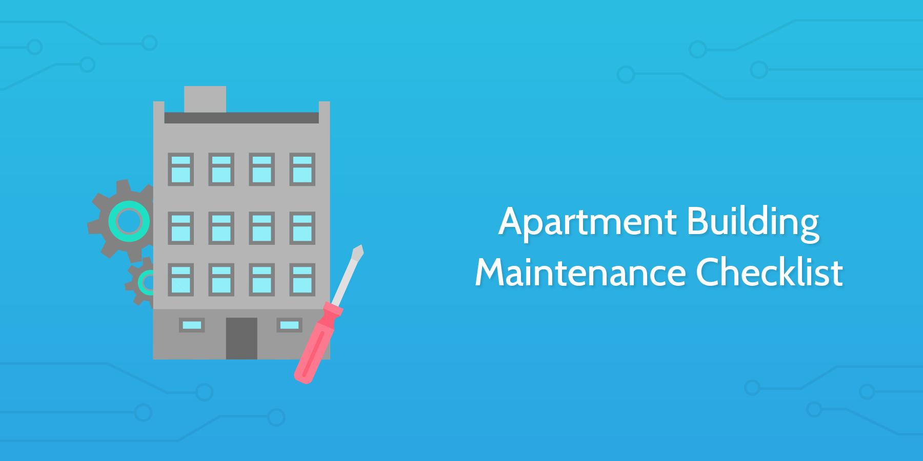 apartment building maintenance checklist