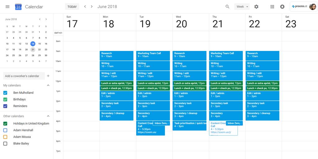 organize schedule