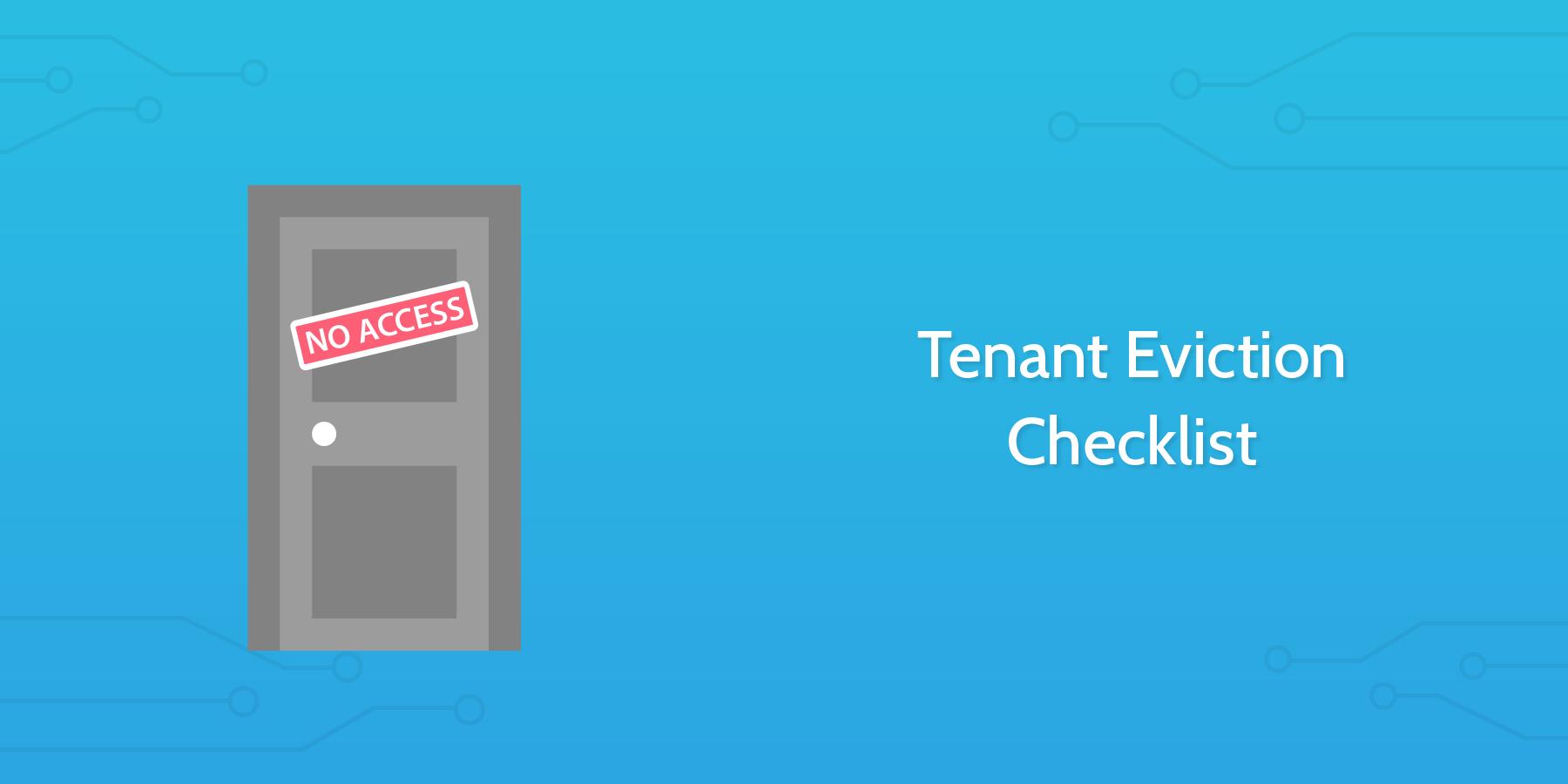 tenant eviction checklist