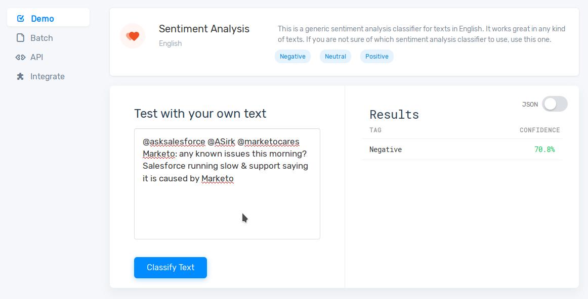 Twitter Sentiment Feedback Analysis