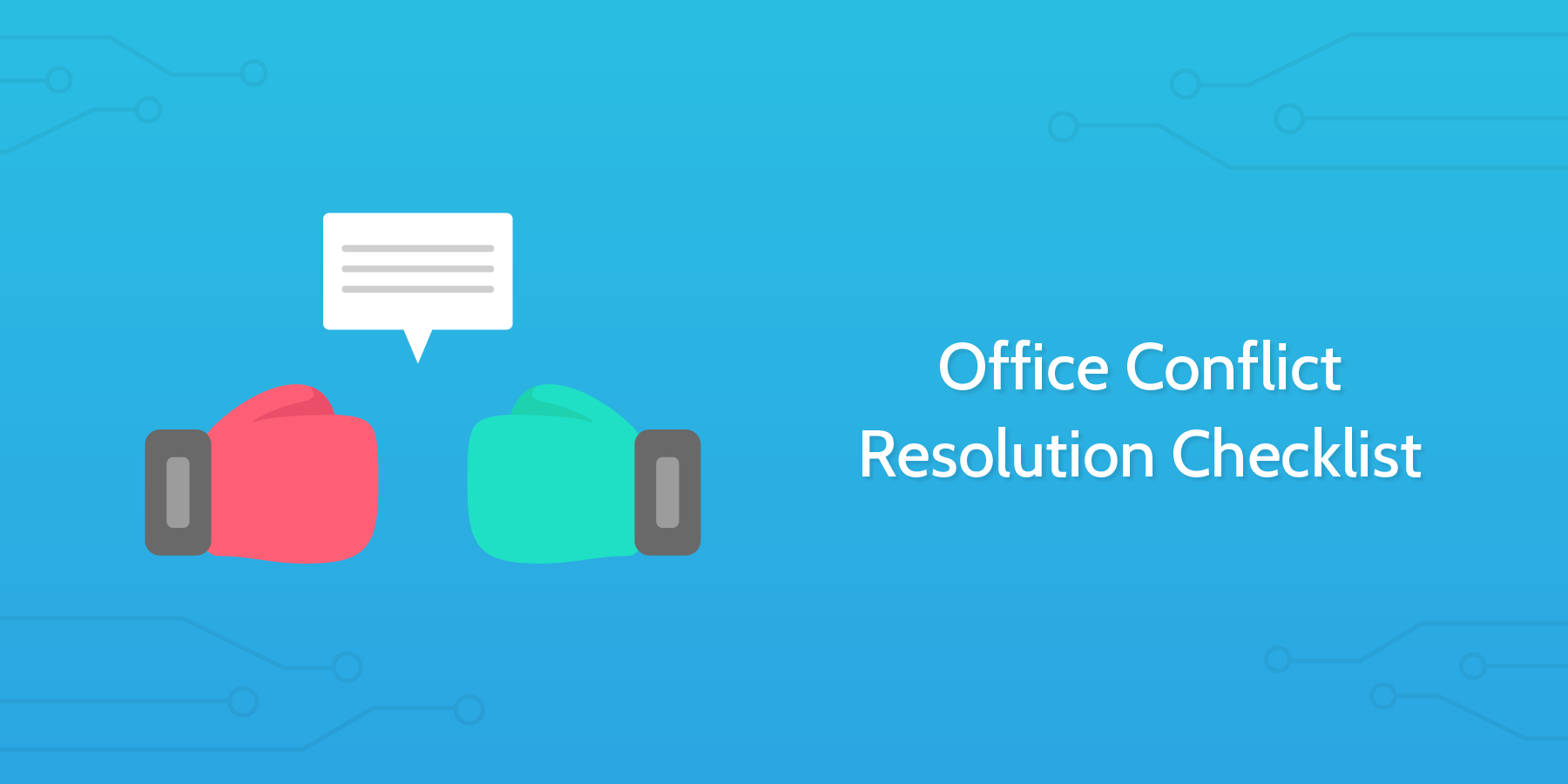 office conflict resolution checklist