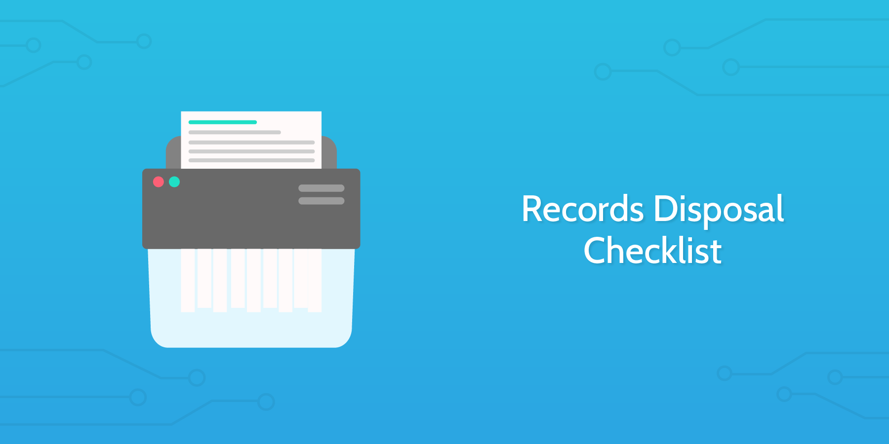 records disposal checklist