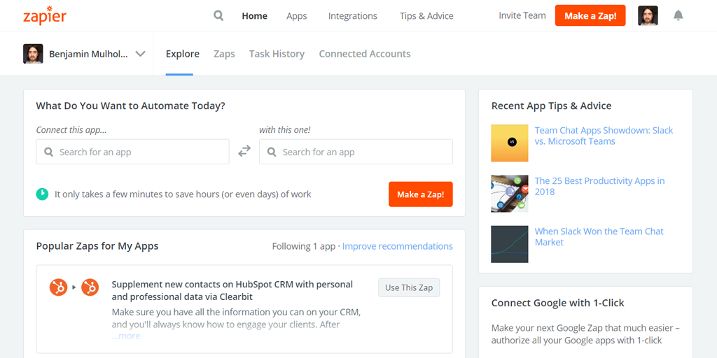 zapier call to action