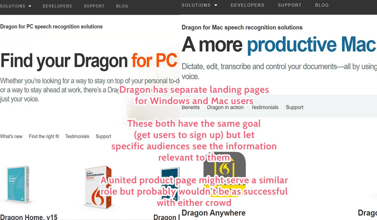 dragon landing page