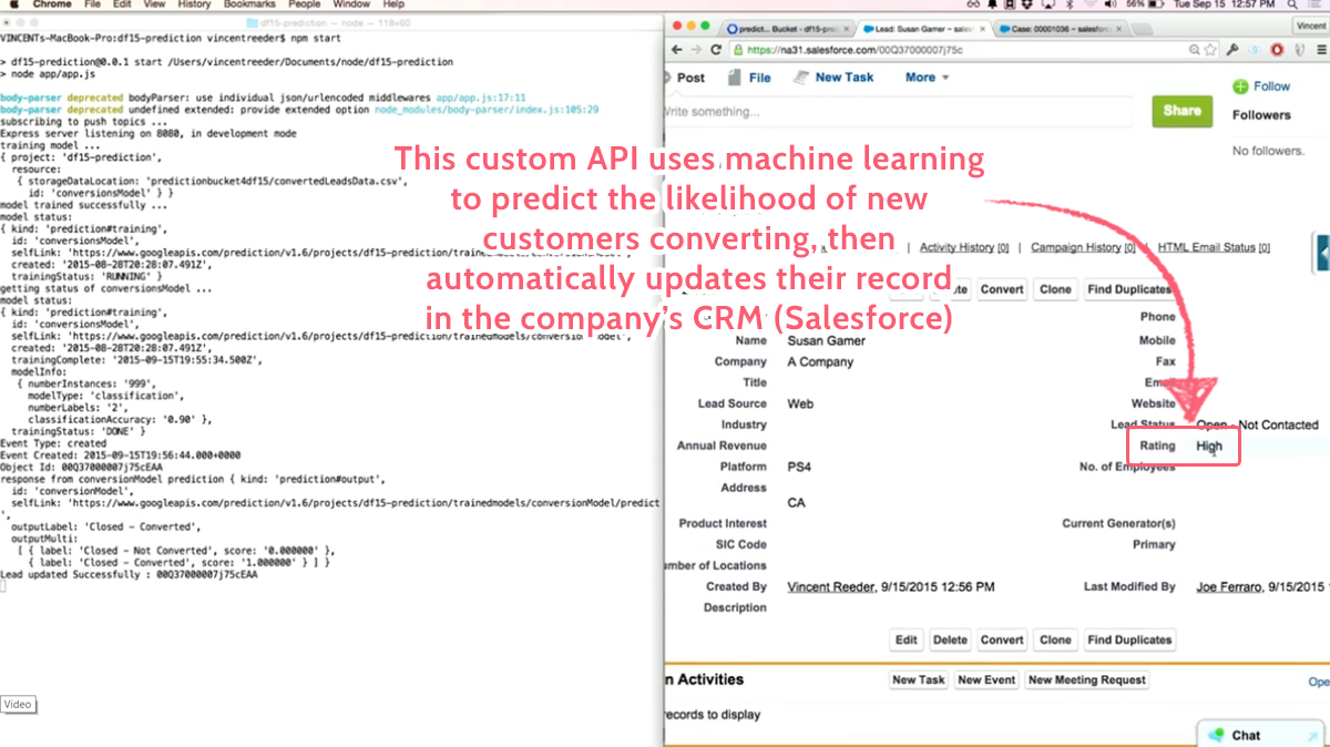machine learning API salesforce edited