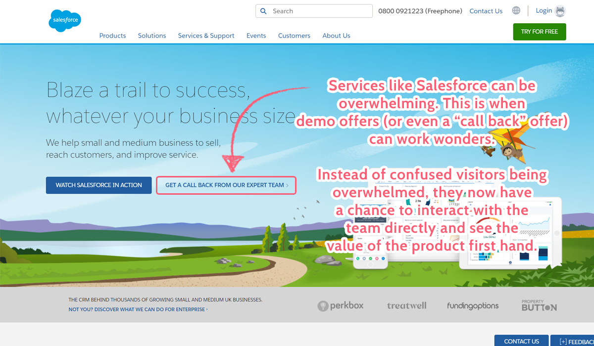 salesforce-landing-page