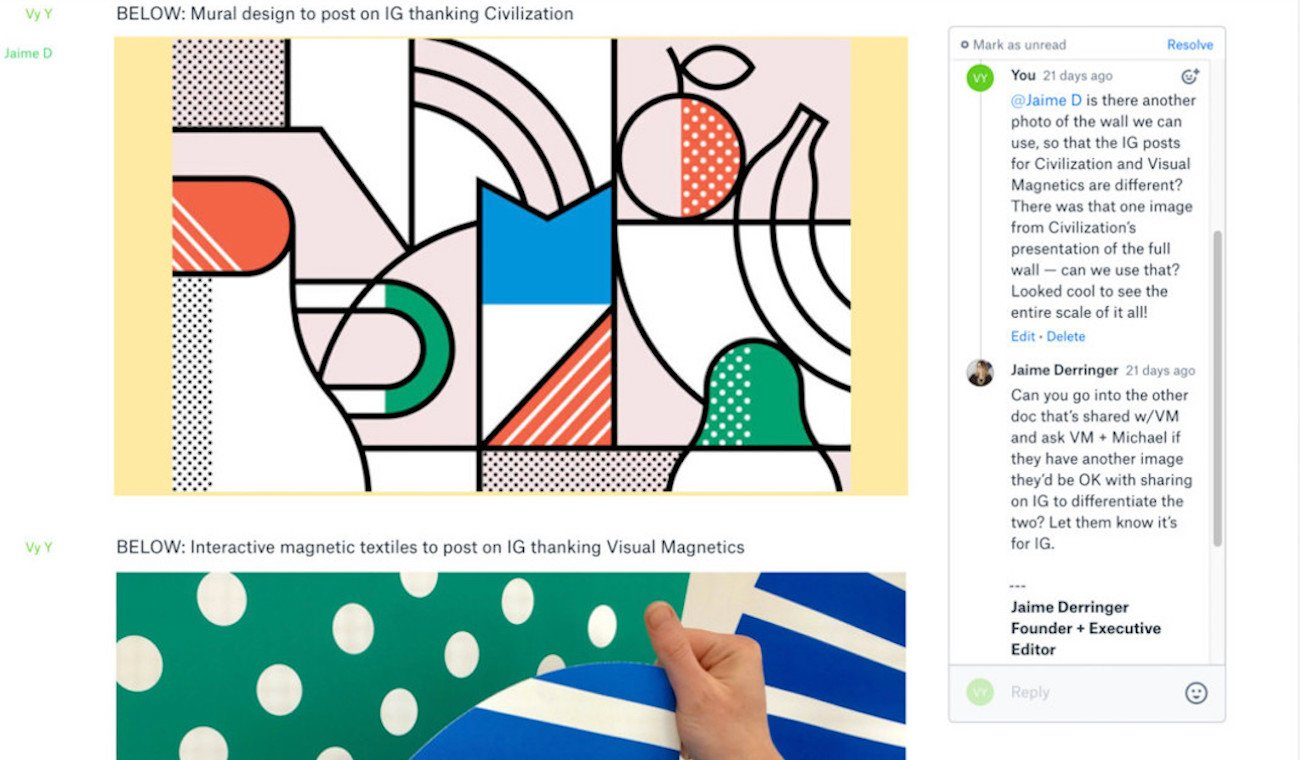 project design in dropbox paper