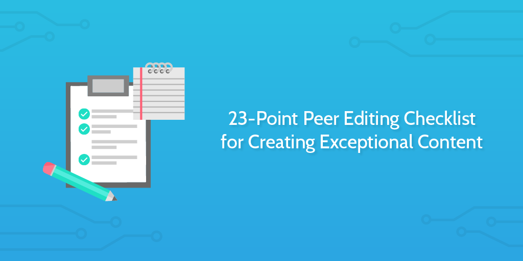 peer editing checklist