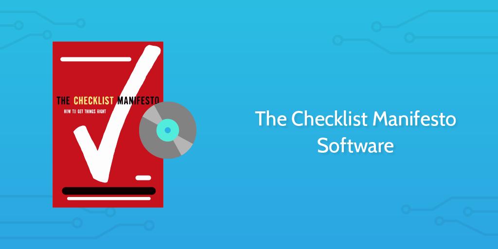 The Checklist Manifesto Software