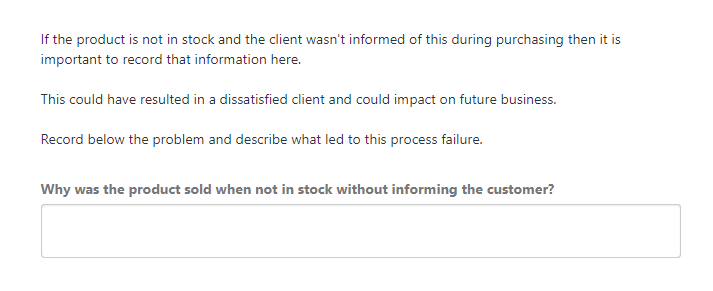 exception report process failure