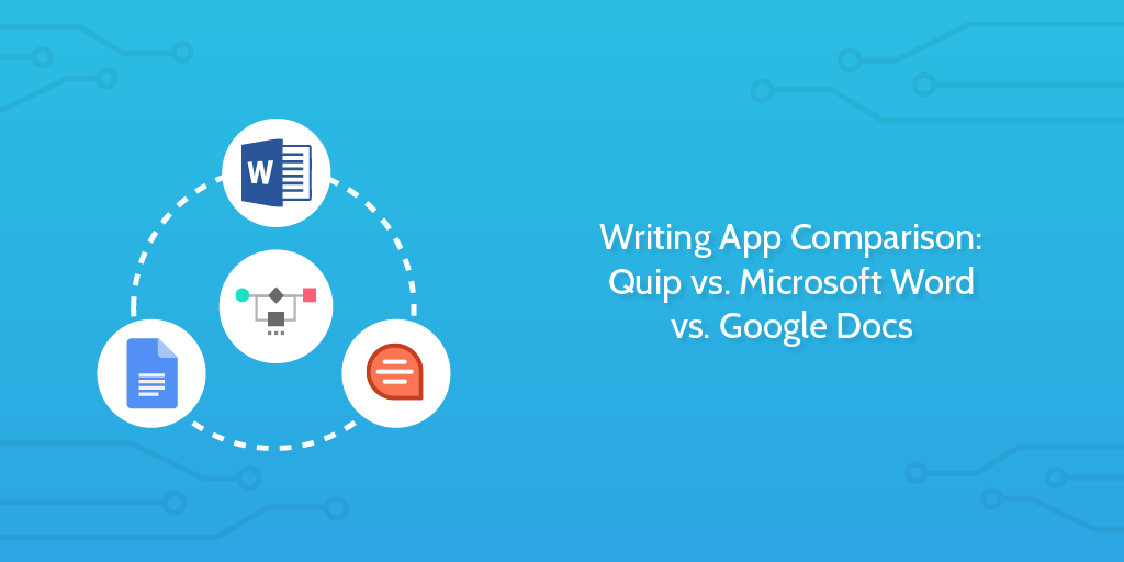 Writing App Comparison: Quip vs  Microsoft Word vs  Google Docs