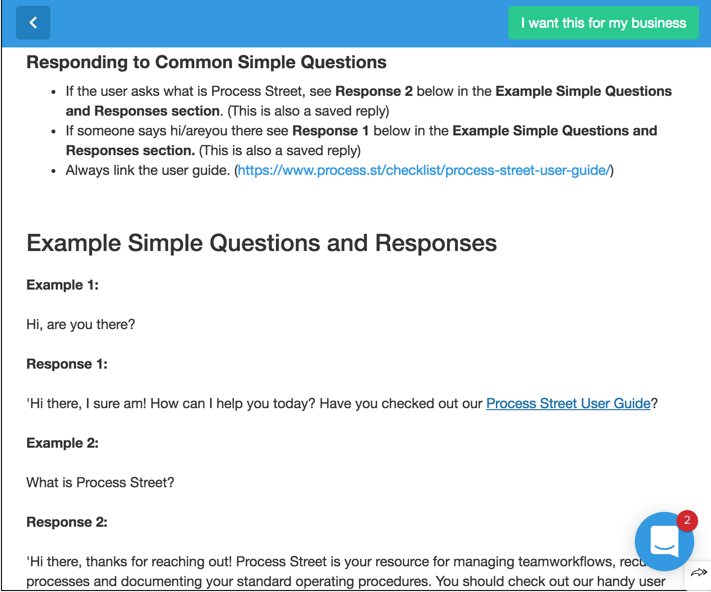 workflow examples example questions