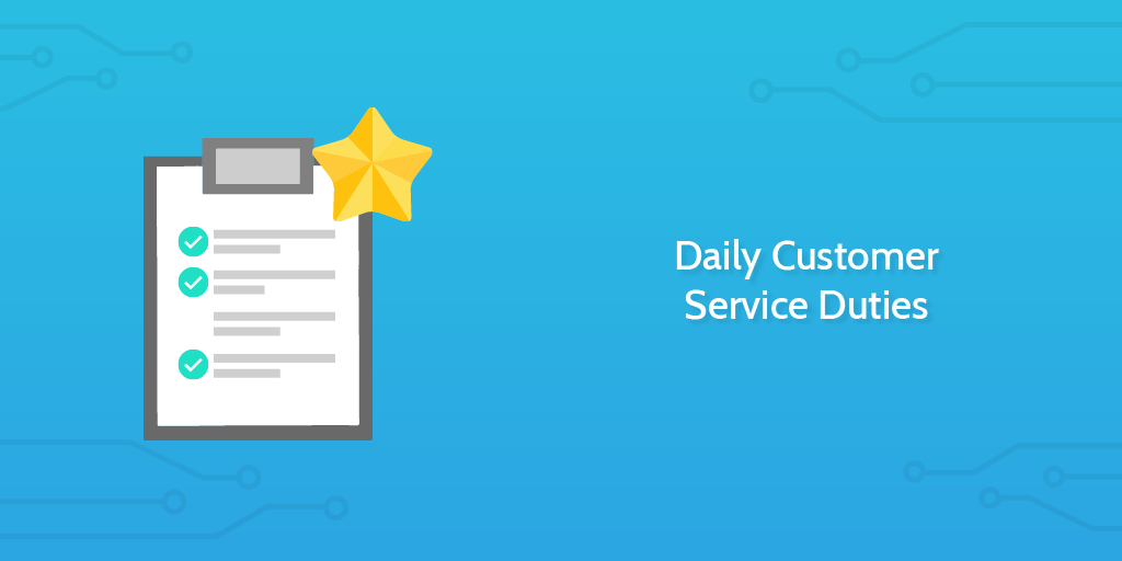 Checklist for Customer Service Daily Duties