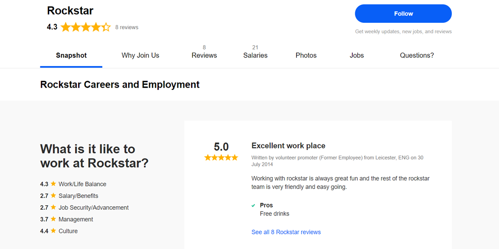 employee company reviews