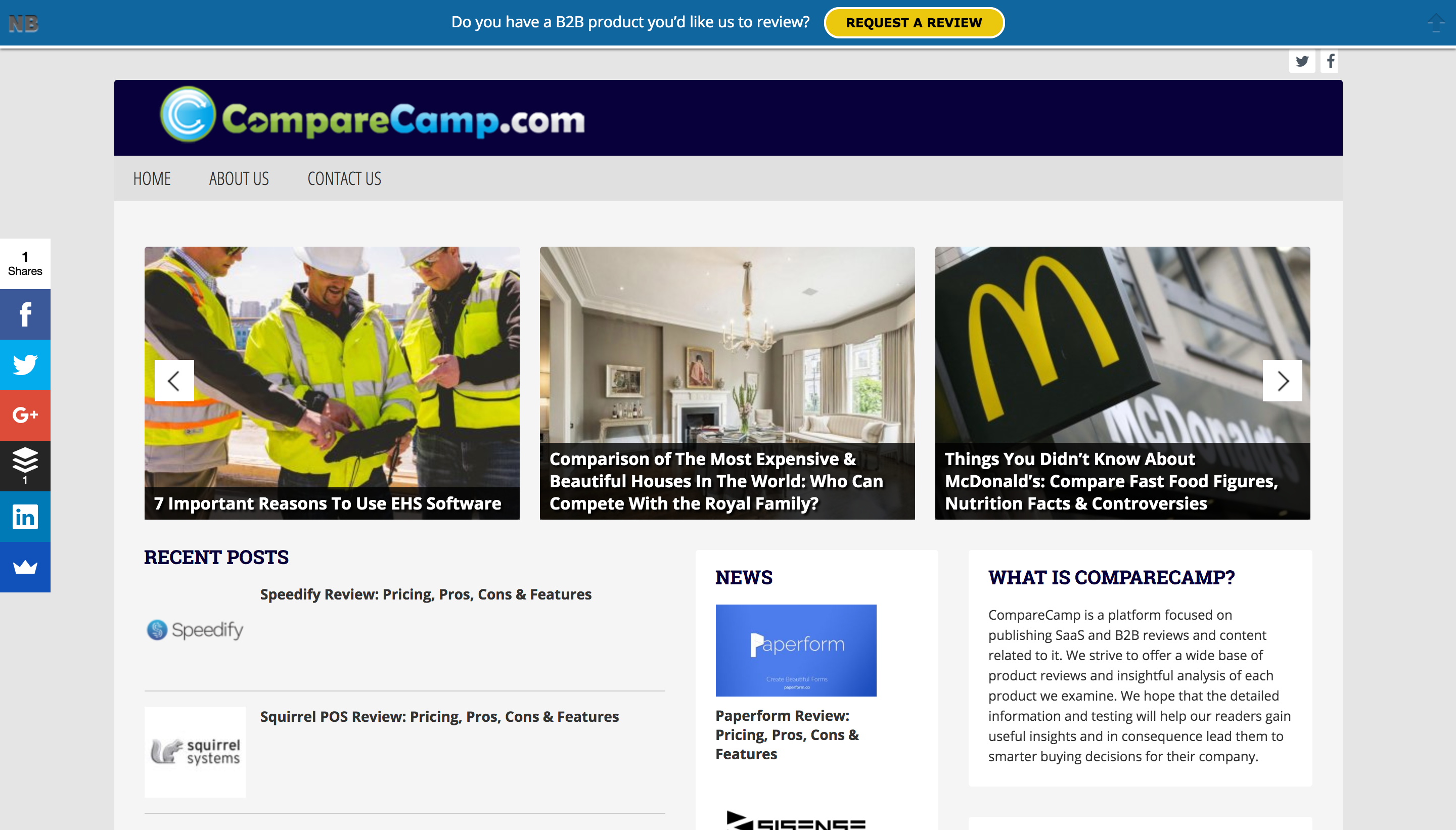 review sites compare camp