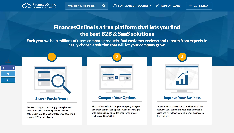 review sites finances online