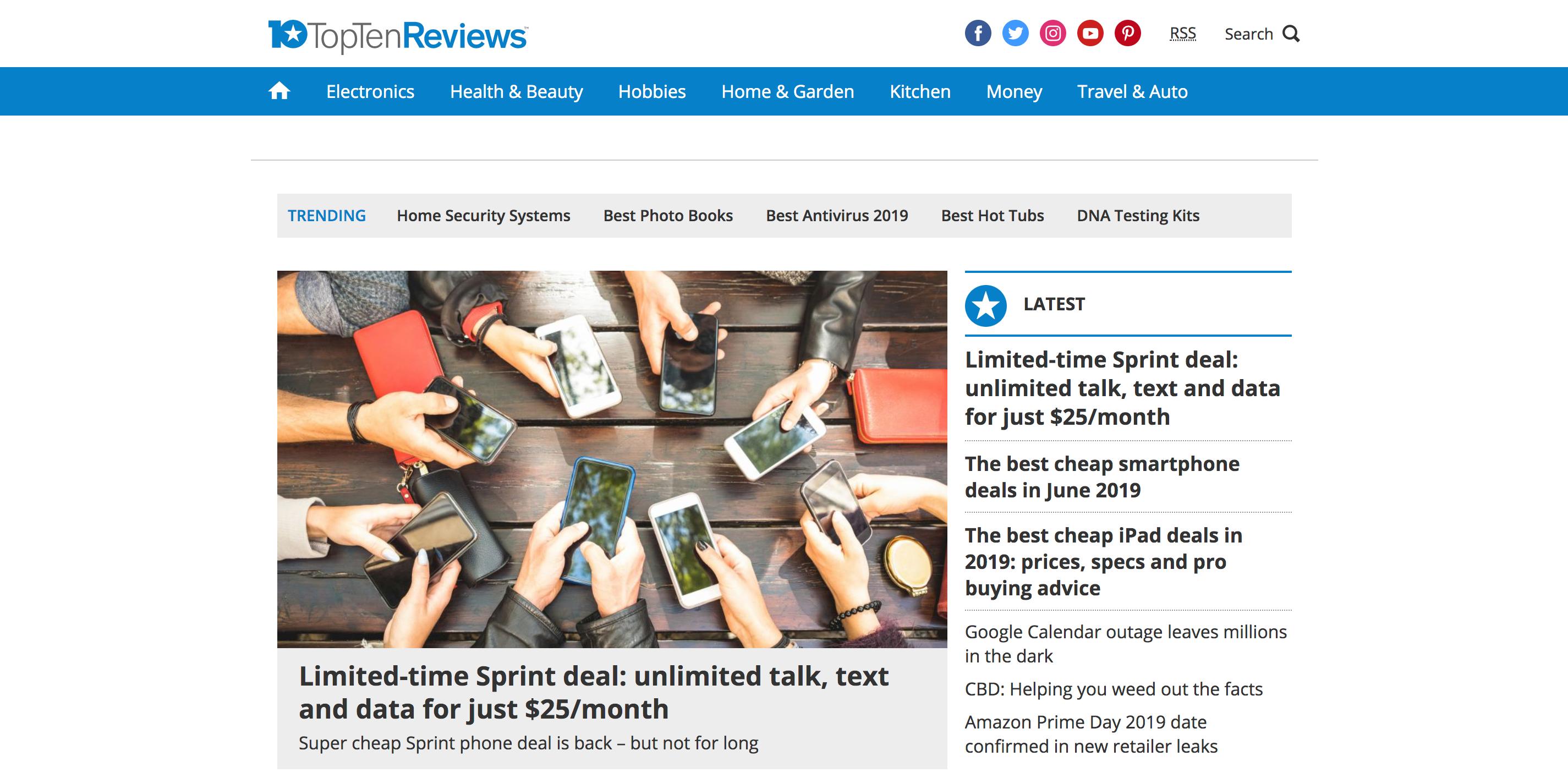 review sites top ten reviews