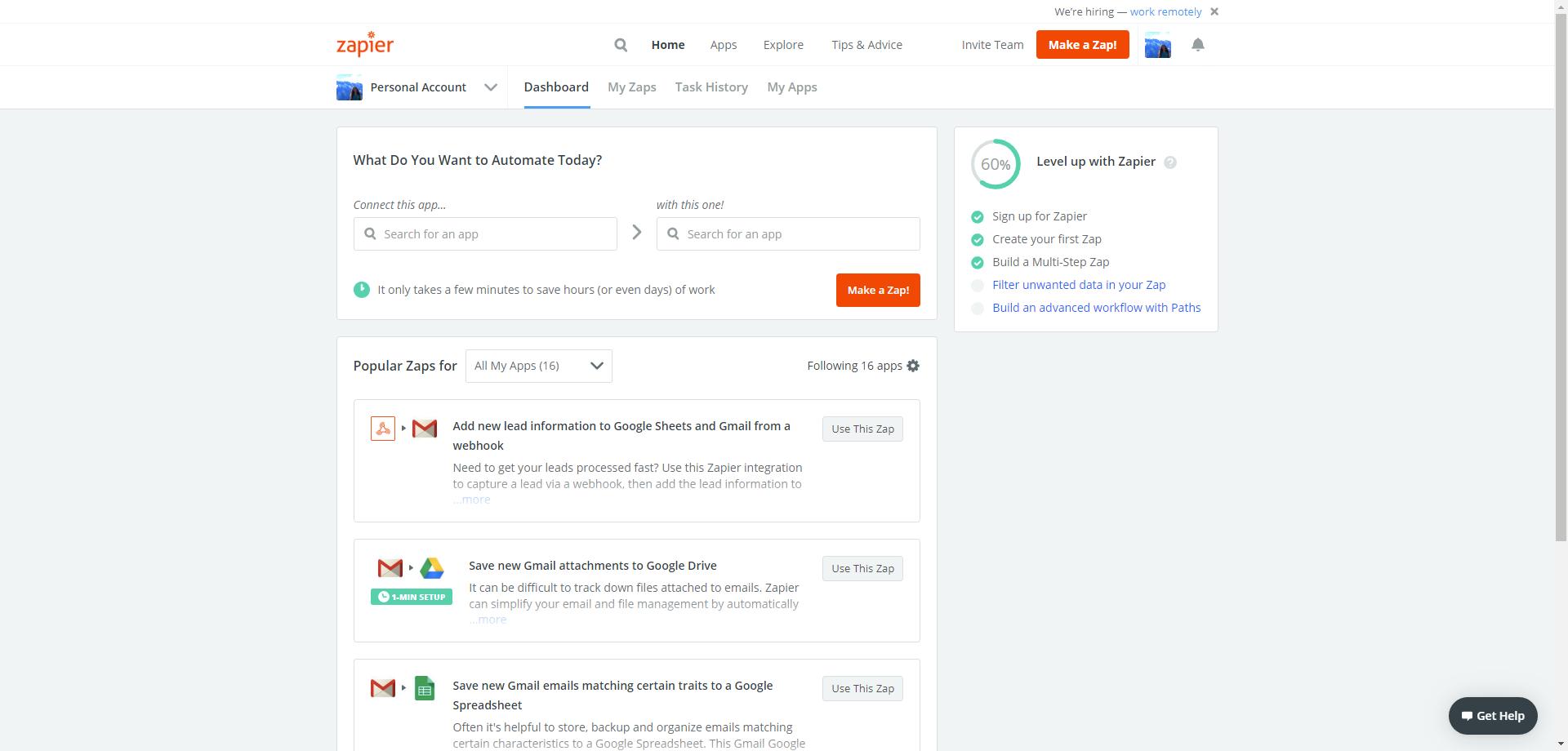 Process Street + Office 365 integration - make a zap