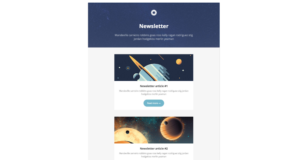 Newsletter templates: newsletter template 10