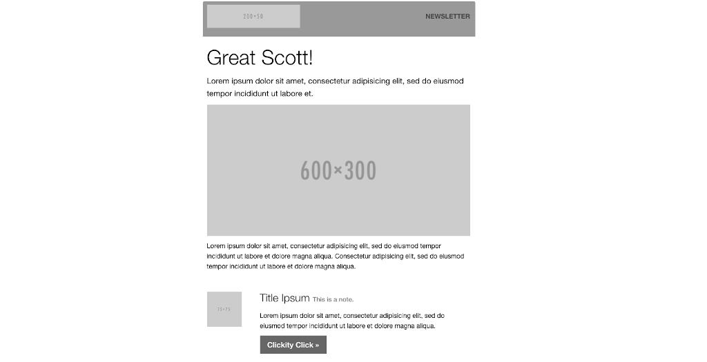 Newsletter templates: newsletter template 12
