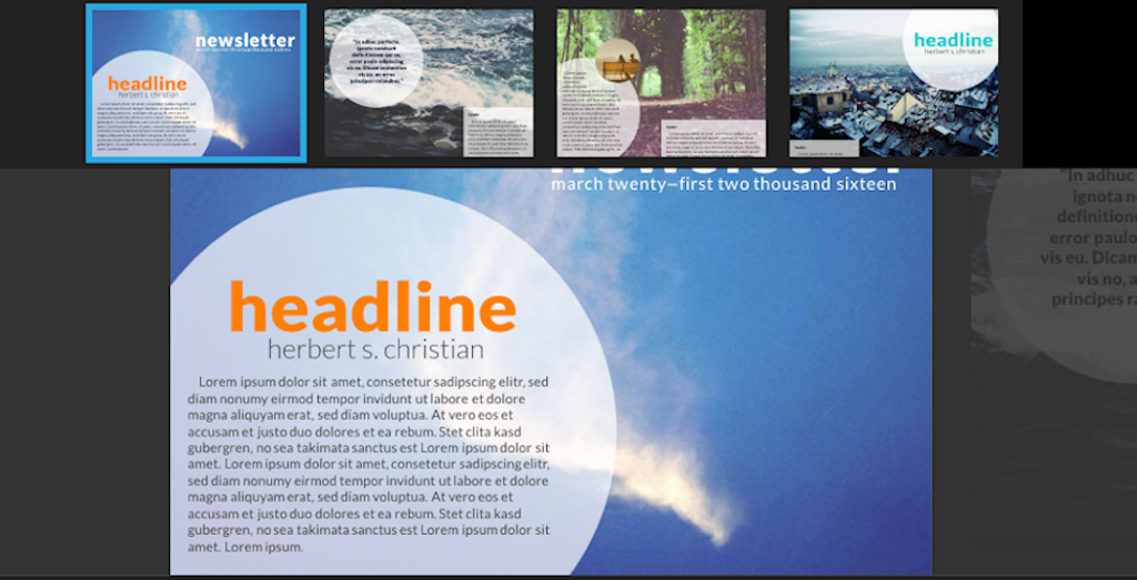 Newsletter templates: newsletter template 2