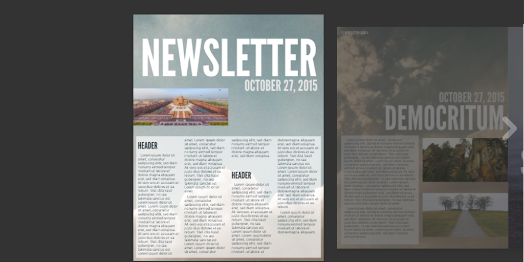 Newsletter templates: newsletter template 3