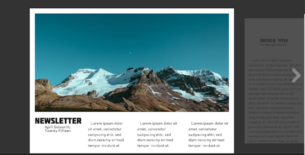 Newsletter template: template 4