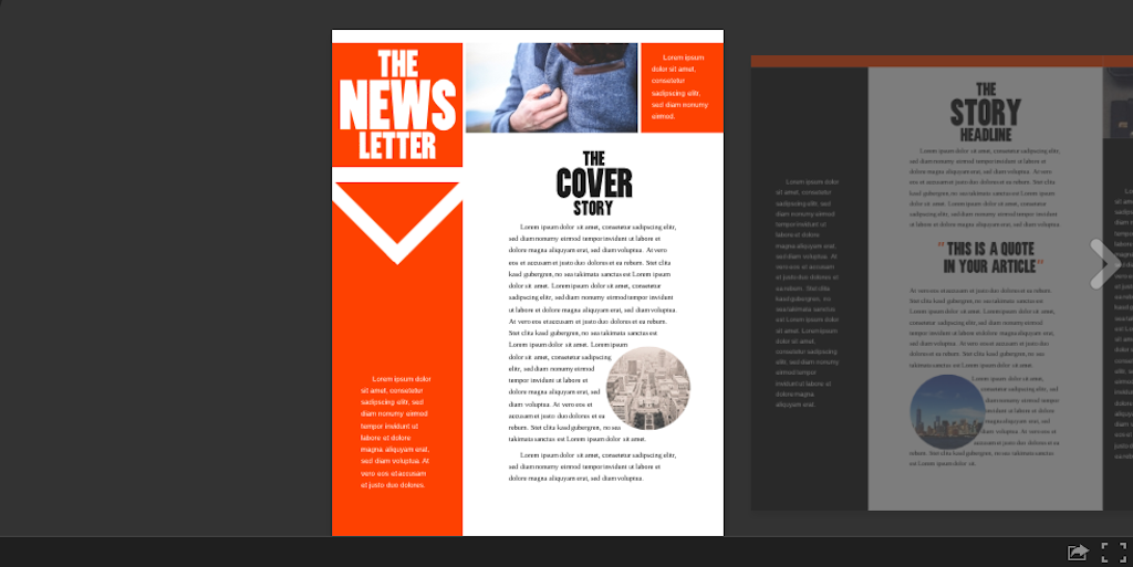 Newsletter template: newsletter template 5