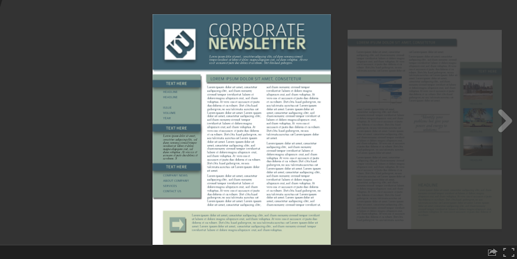 Newsletter templates: newsletter template 6