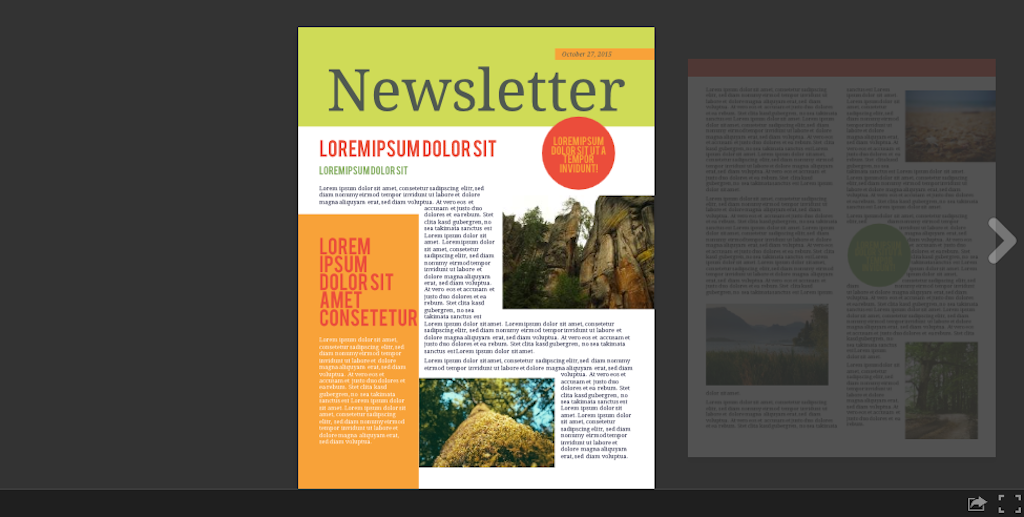 Newsletter templates: newsletter template 7